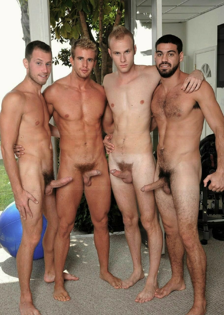 Three nude men get together #6